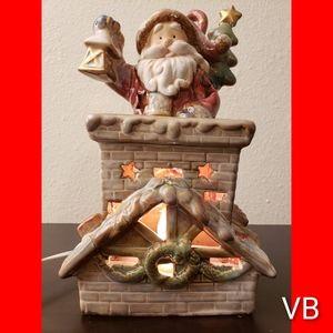 Santa Clause Ceramic Night Light Christmas Decor.